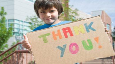به کودکان تشکر کردن بیاموزیم
